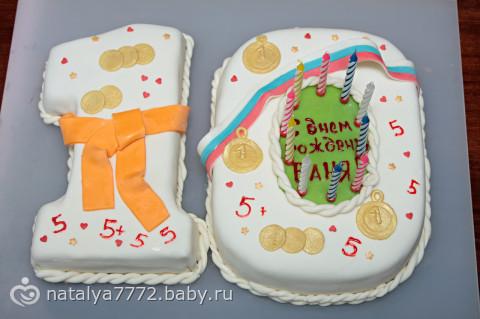 Фото торты мальчику на 10 лет