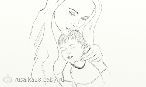 Рисунки на тему моя мама поэтапно