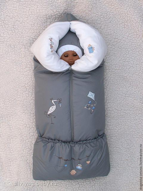 Зимний конверт трансформер для новорожденного своими руками