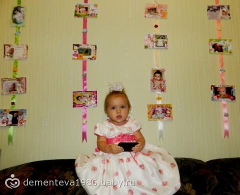 Часы из фотографий на стену годовалому ребенку