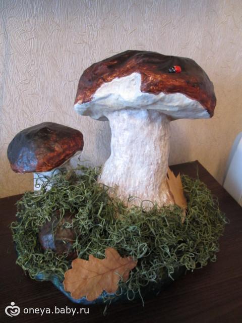 Из папье маше грибы своими руками