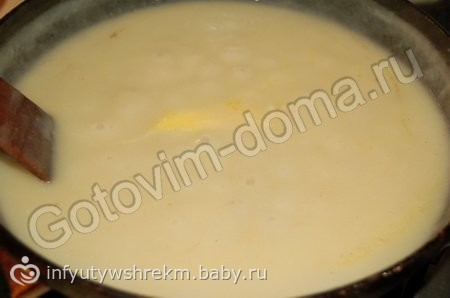 Соус для макарон молочный