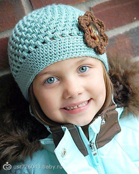Вязание спицами шапочки девочек весну