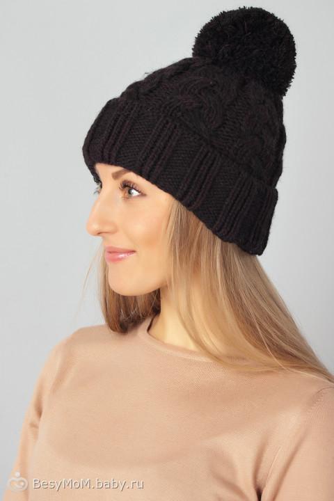 Черная шапка с помпоном STRIX 60010 Киев, Украина. Купить