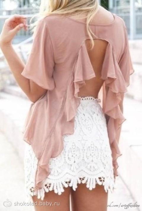 Своими руками. переделка рубашки. Декор одежды. декор спины. Декор. переделка блузки. 29 апреля 2012, 06:19