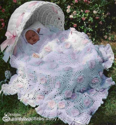 Мастер класс вязание пледов для новорожденных