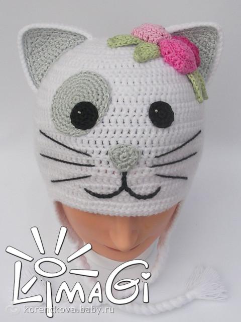 """шапки-кошки """"Цветочная"""