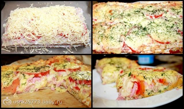 Лаваш с колбасой и сыром рецепт