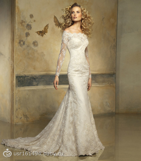 Платье со шлейфом - Свадьба - на бэби.ру