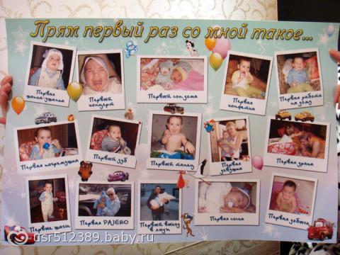 Плакаты на годовасие своими руками