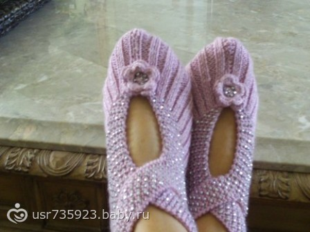 вязаные спицами носки гетры