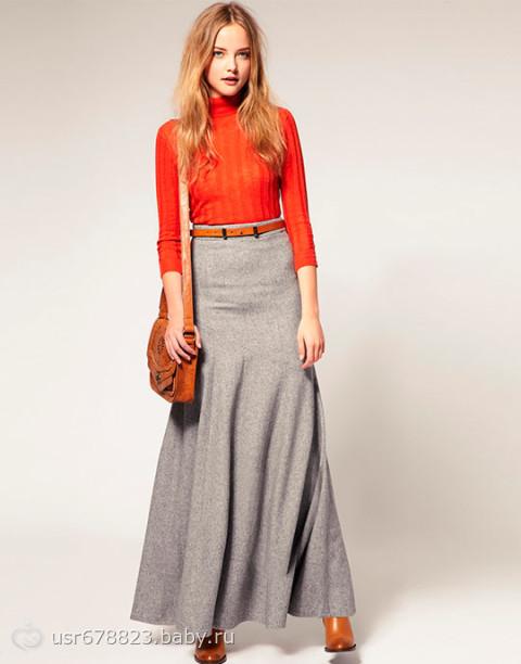 Длинная юбка-макси, или юбка в пол - уникальный элемент женского гардероба, с её помощью возможно