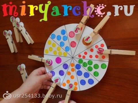 Дидактическая игра своими руками с прищепками