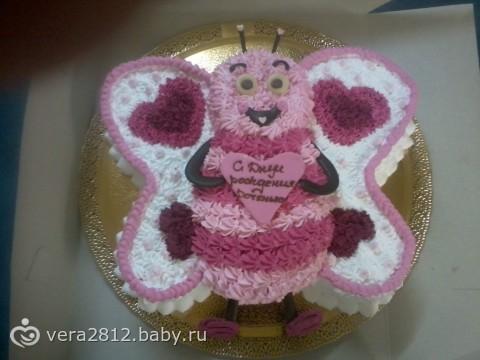 Торт без мастики для девочки