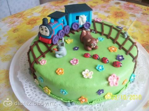 Детский тортик из мастики фото