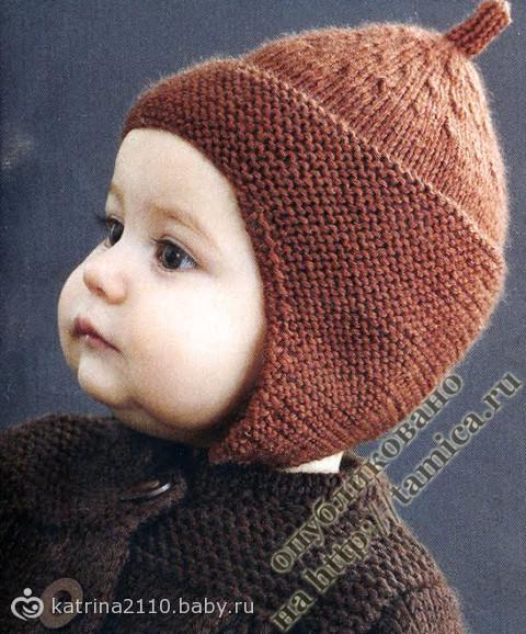 Вход - Регистрация. береты, шарфы, связанные спицами, для детей. . Шапочка детская в полоску, фото