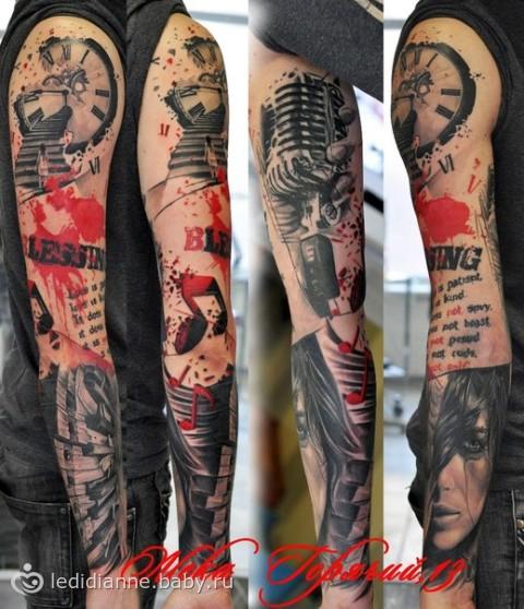 Татуировки в стиле реализм трэш полька, фото и эскизы