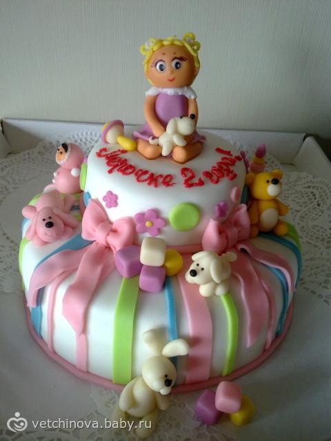 Торт на 2 годика дочке фото