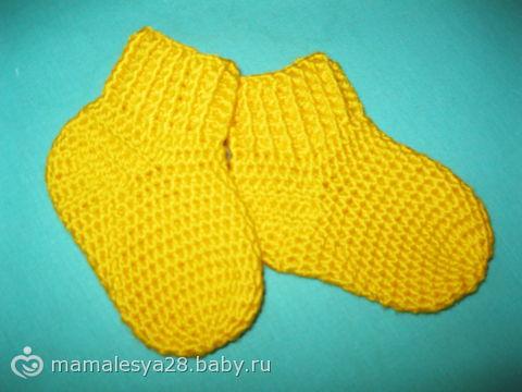 детские носки крючком Носочки