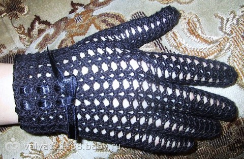 ажурных перчаток(схемы,