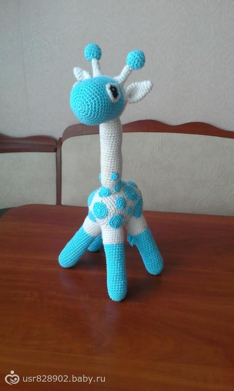 Жираф для доченьки (крючком)