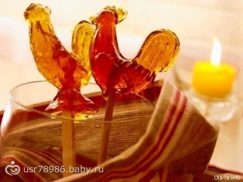 Конфеты в домашних условиях петушки