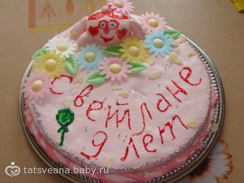 Простой торт с мастикой своими руками для начинающих