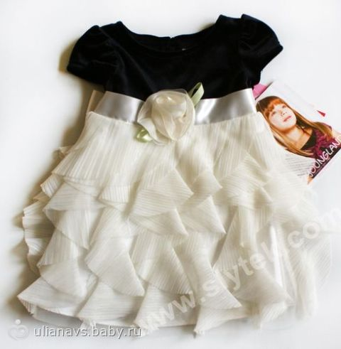 Выкройка платья на 1 годик 3