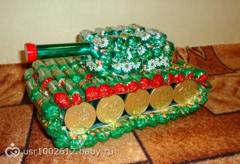 Подарки из конфет своими руками на день рождения фото