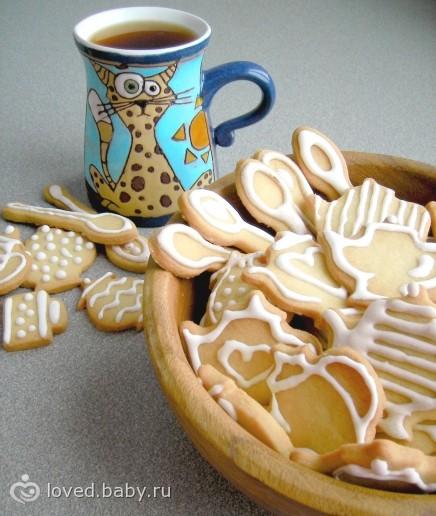 фигурное печенье в формочках в духовке пошаговый рецепт