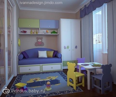 Как сделать в однокомнатной детскую спальню