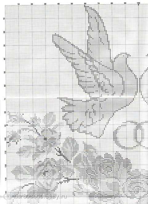 Схема для вышивки рушников