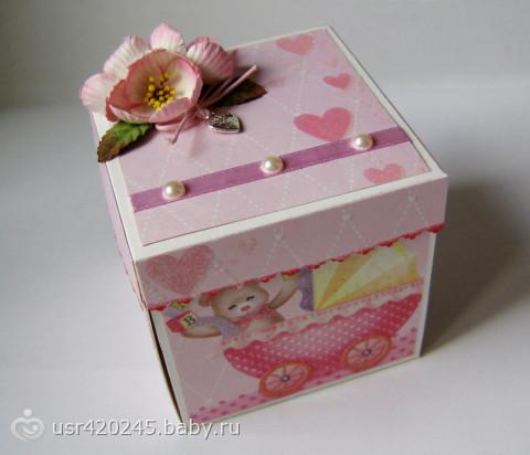 Коробочка открытка в подарок