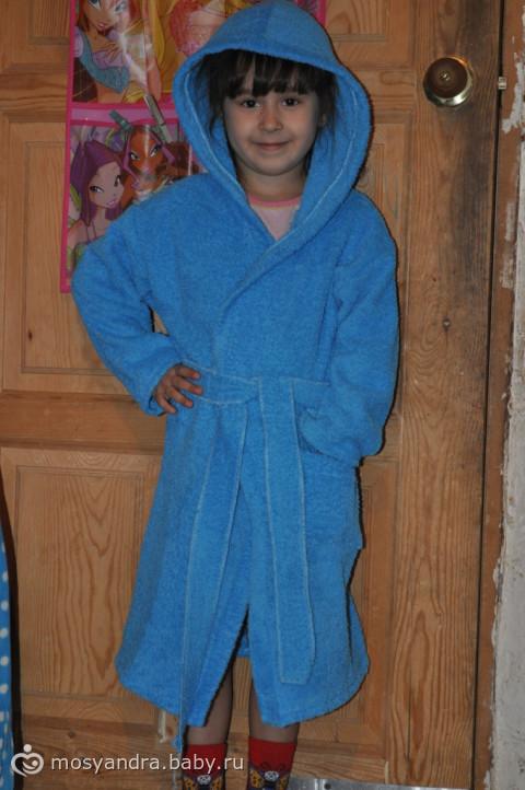 Банный халат для дочки