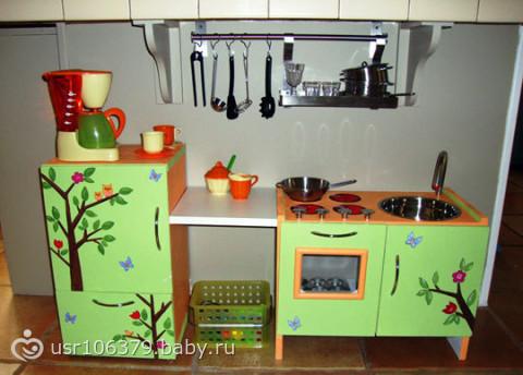 Как сделать кухню для детей своими руками
