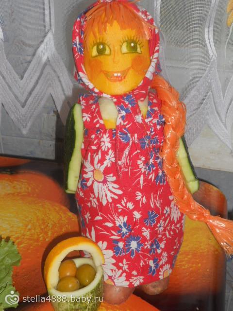 Как сделать из овощей куклу 91
