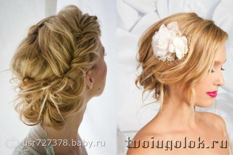 Свадебные прически с челкой, фото красивых свадебных причесок с челкой.