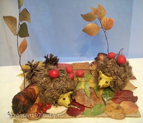 Поделка на тему осень из природного материала