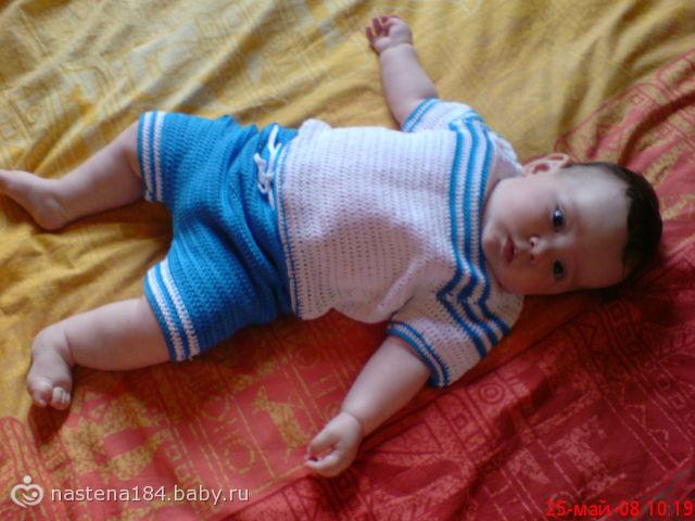 Как связать шортики для мальчика