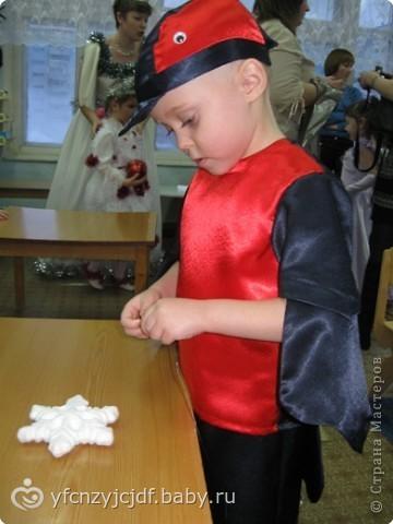 Костюм снегиря для мальчика на новый год