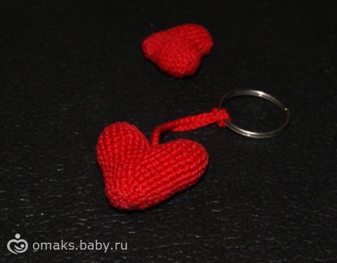 объемные сердечки крючком