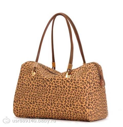 оптом Модная сумка с узором леопарда.