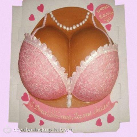 торт в форме груди))