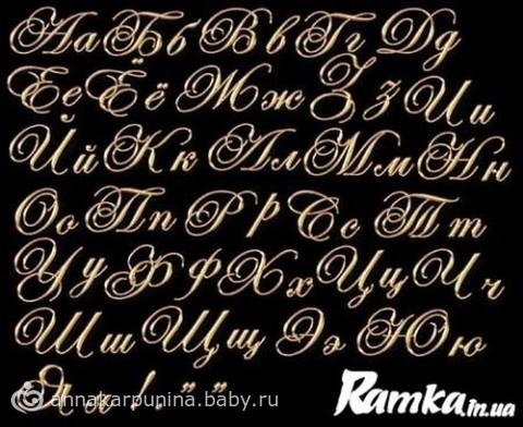 Красивые буквы для тортов и т п для