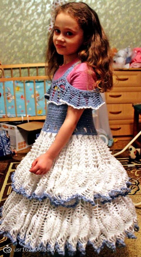 Вязание крючком платья на выпускной в детском саду 79