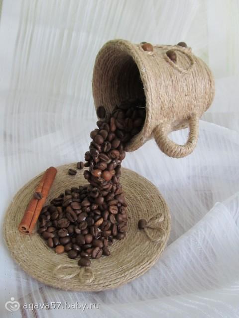 Кофейный топиарий летящая чашка своими руками мастер класс