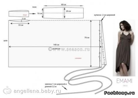 Платье-трансформер для беременных своими руками