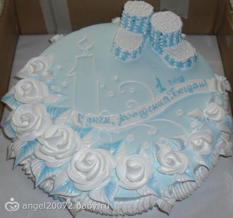 Такой тортик она делала на на годик