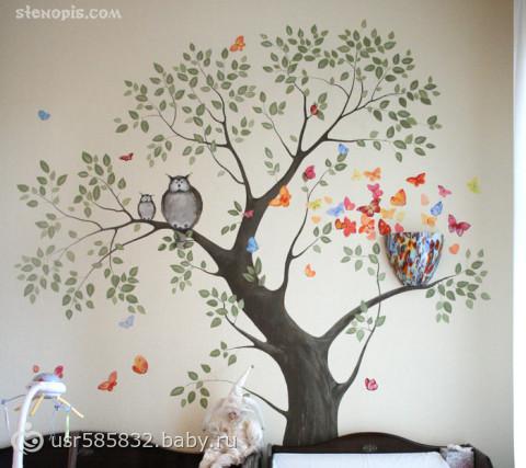Рисунок на стене своим рук