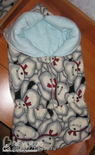 Конверт для новорожденного из одеяла своими руками
